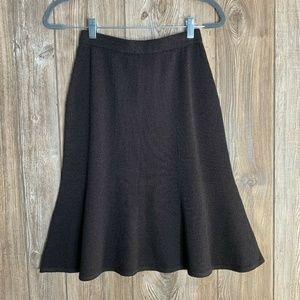 St John Size 2 Brown Wool Rayon Santana Knit Skirt